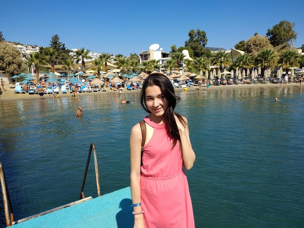 Пляж Гюмбета возле нашего отеля